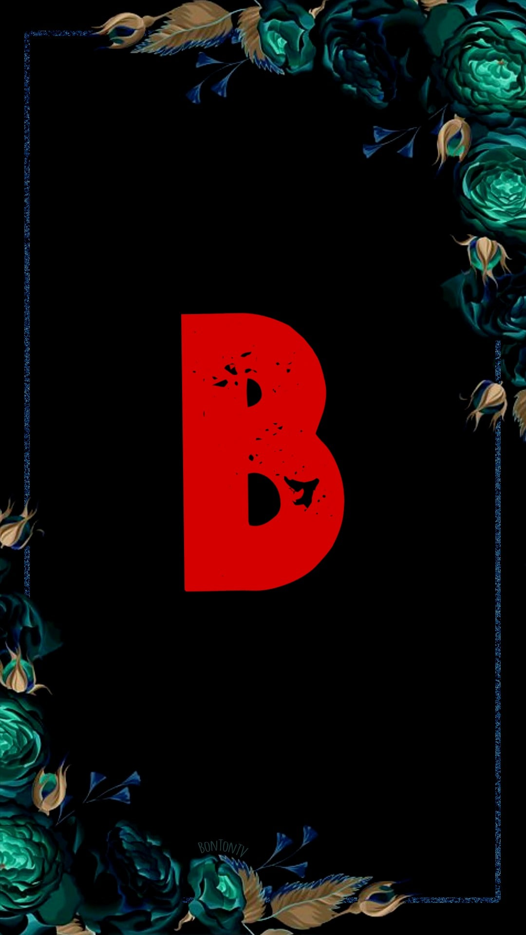 B Alphabet in Red