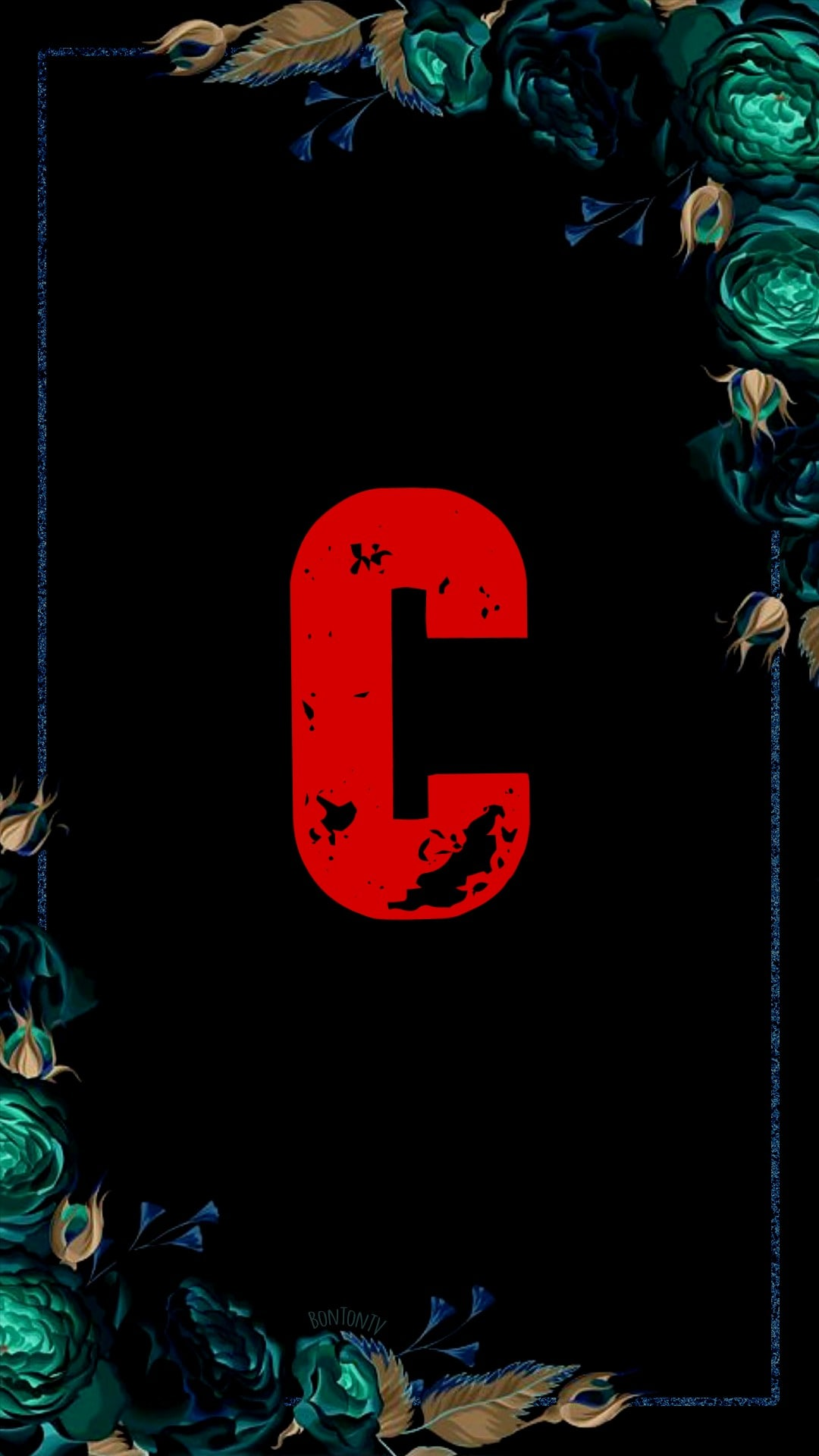 C Alphabet in Red