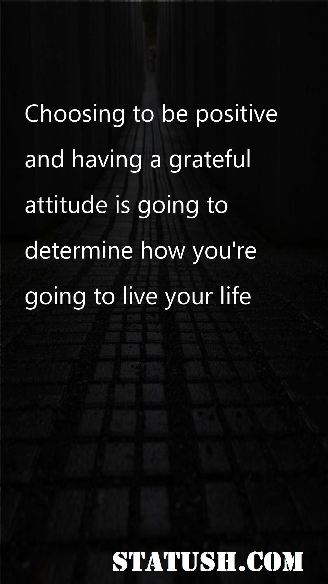 Choosing to be positive and having a grateful