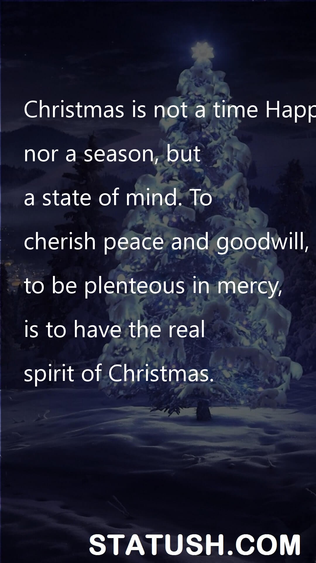 Christmas is not a time