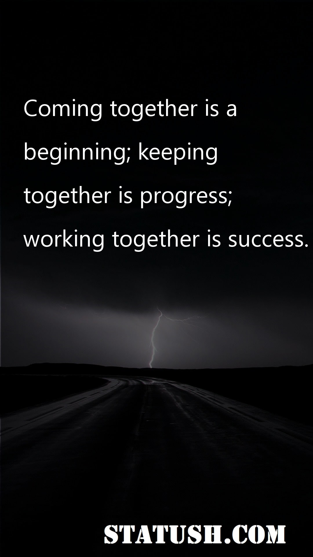 Coming together is a