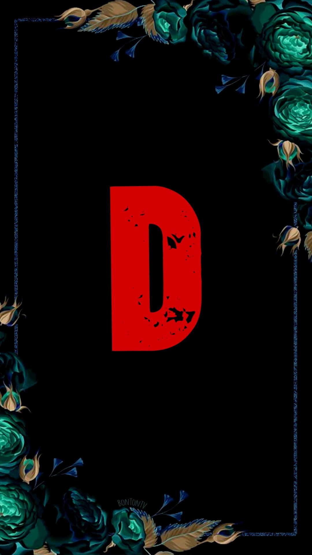 D Alphabet in Red
