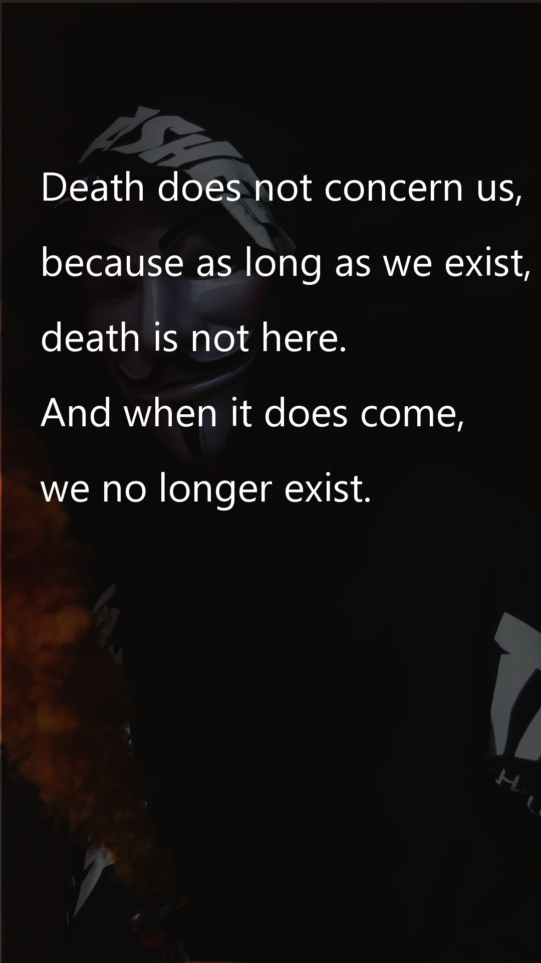 Death does not concern us