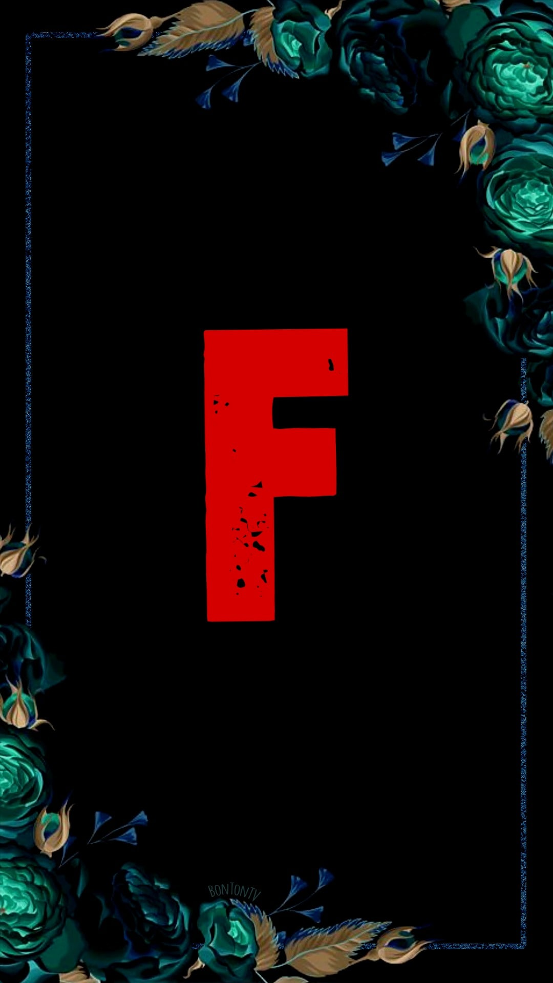 F Alphabet in Red