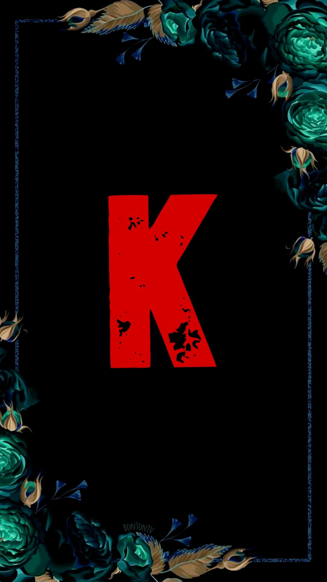 K Alphabet in Red