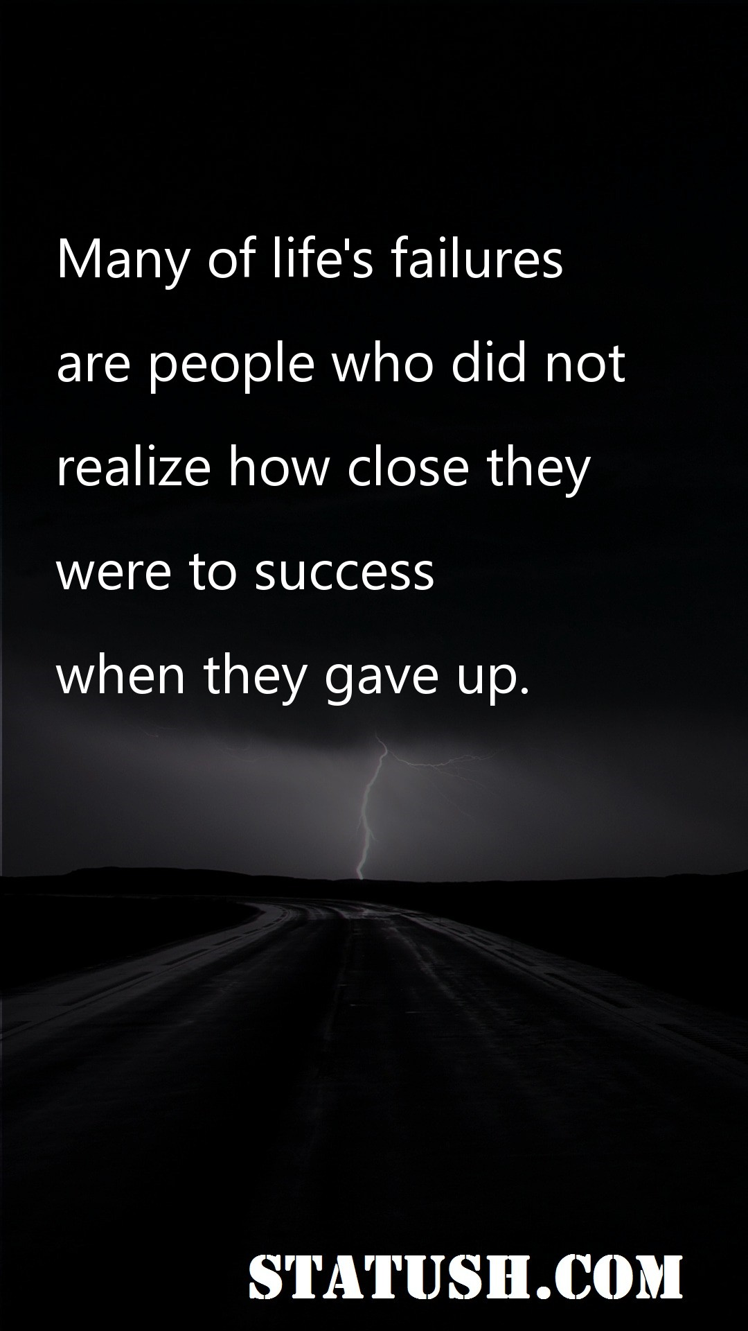 Many of lifes failures