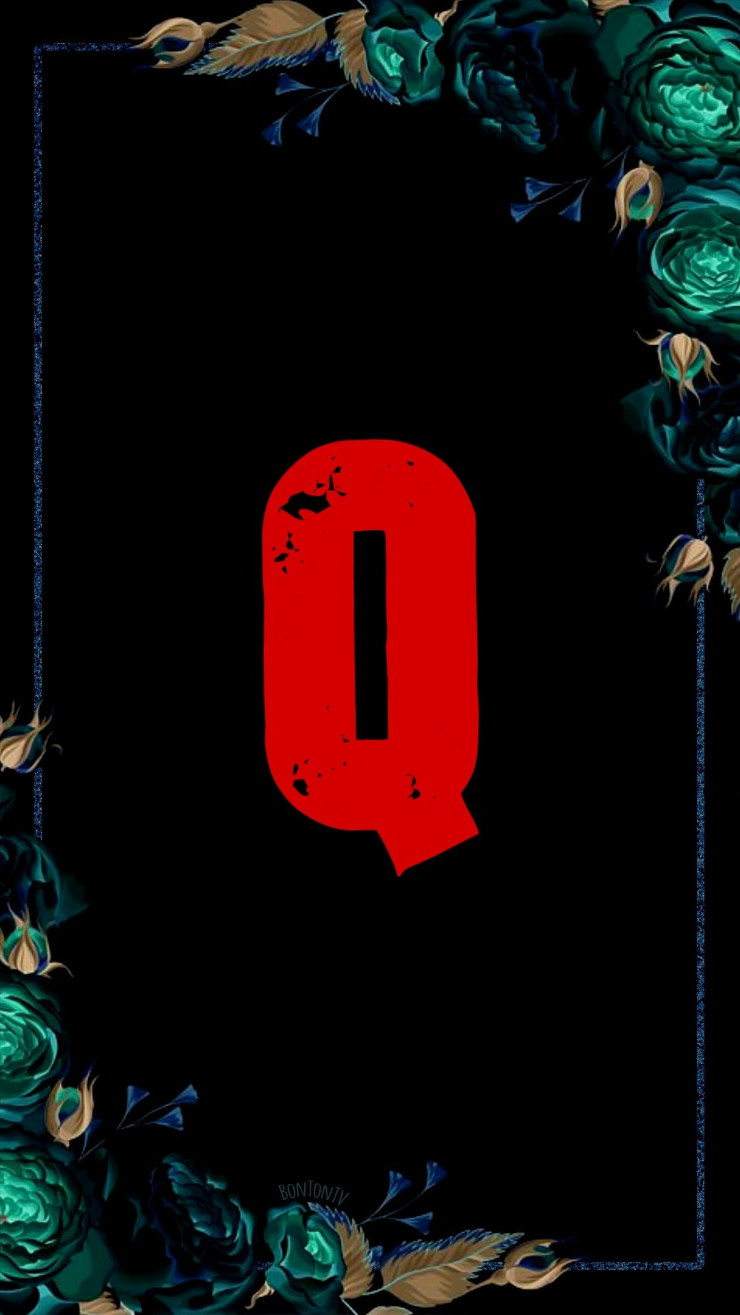 Q Alphabet in Red