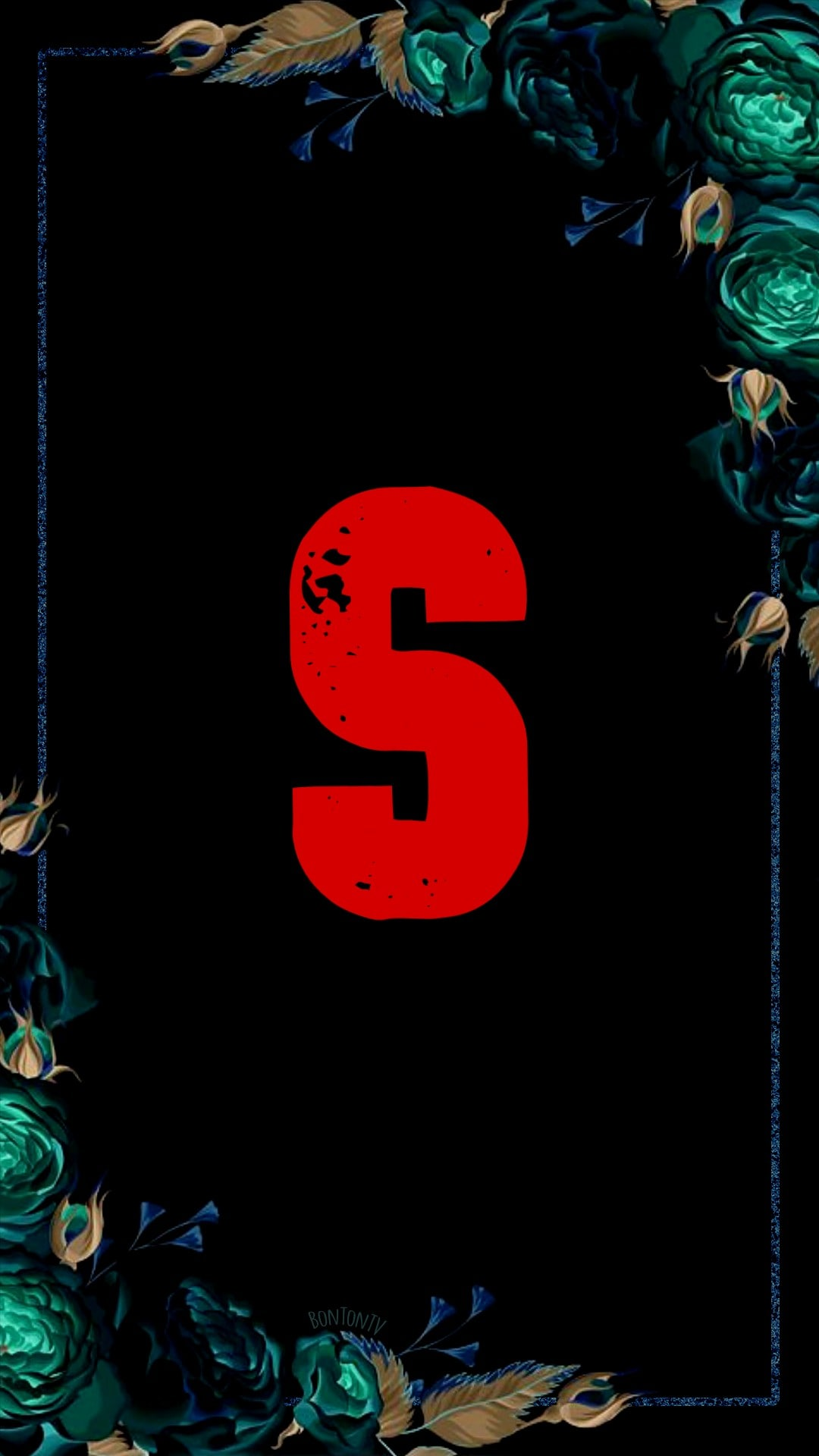 S Alphabet in Red