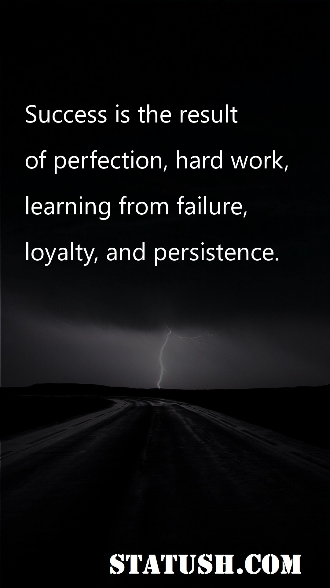 Success is the result of perfection