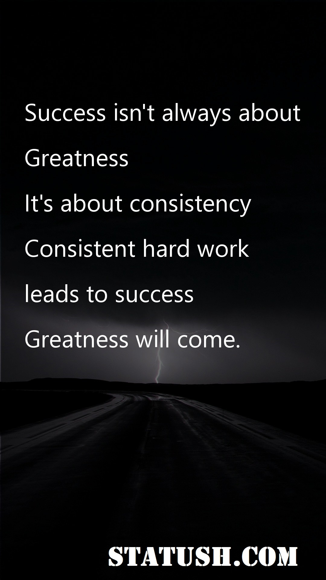 Success isnt always about greatness