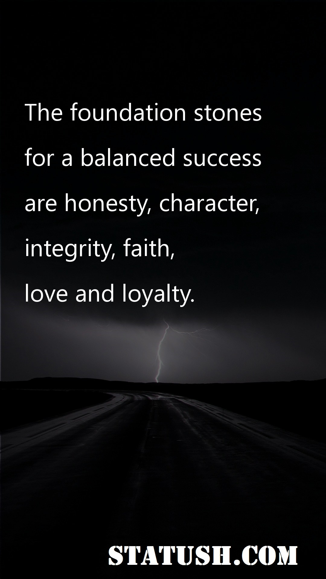 The foundation stones for a balanced success