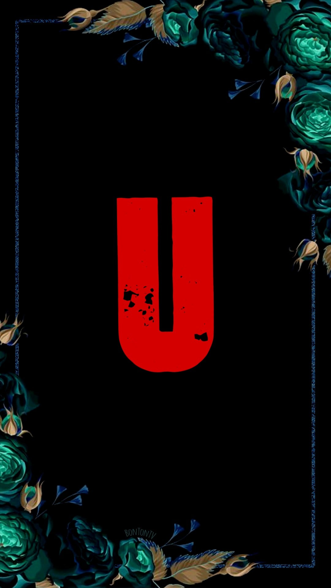 U Alphabet in Red