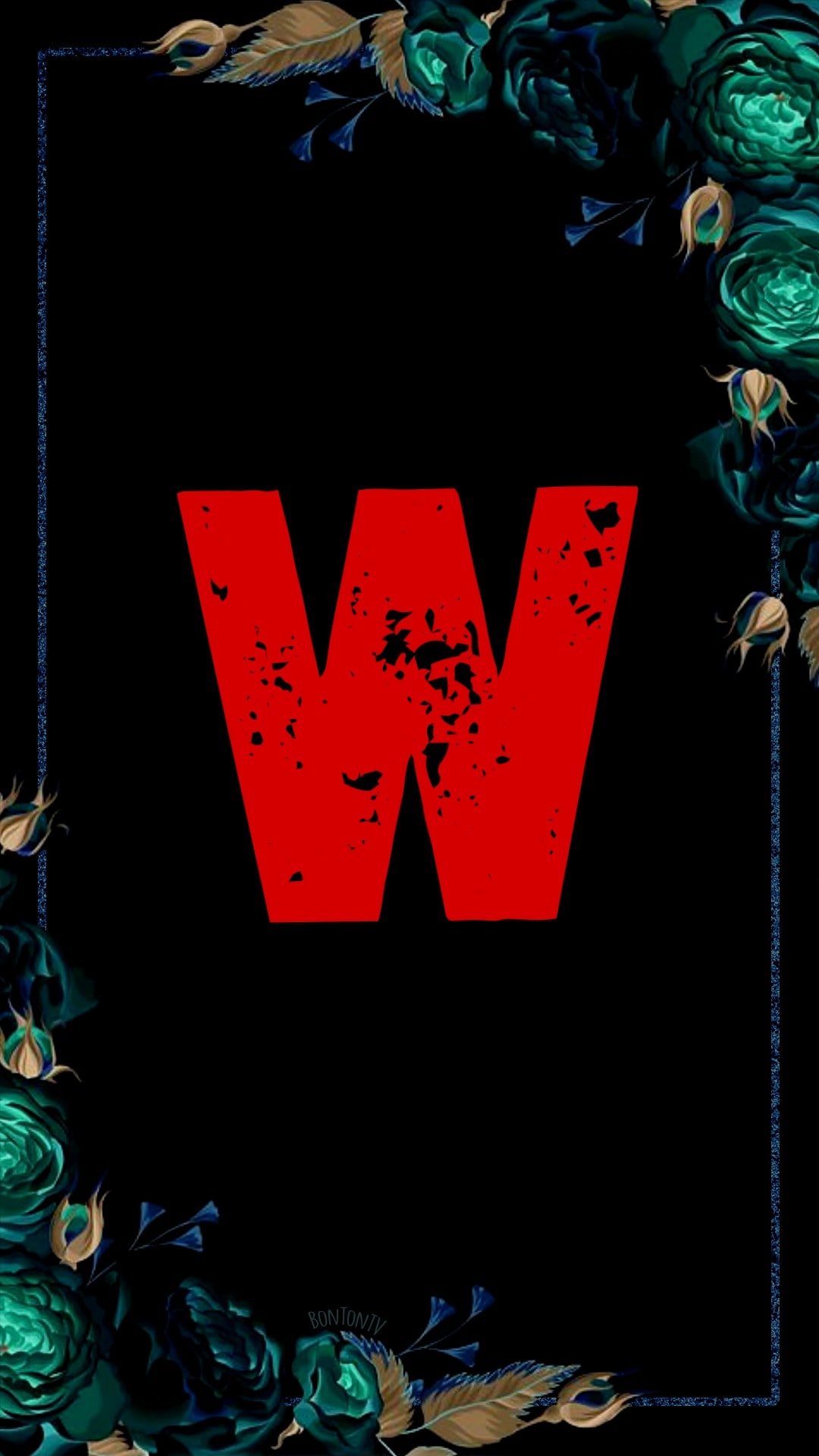 W Alphabet in Red