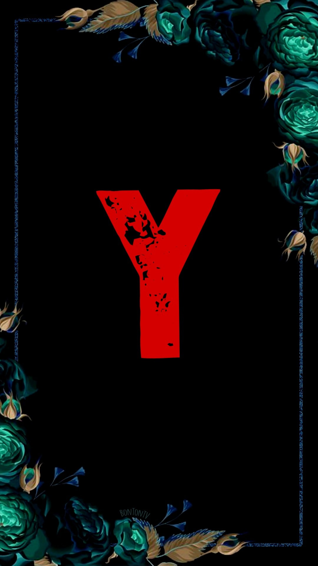 Y Alphabet in Red