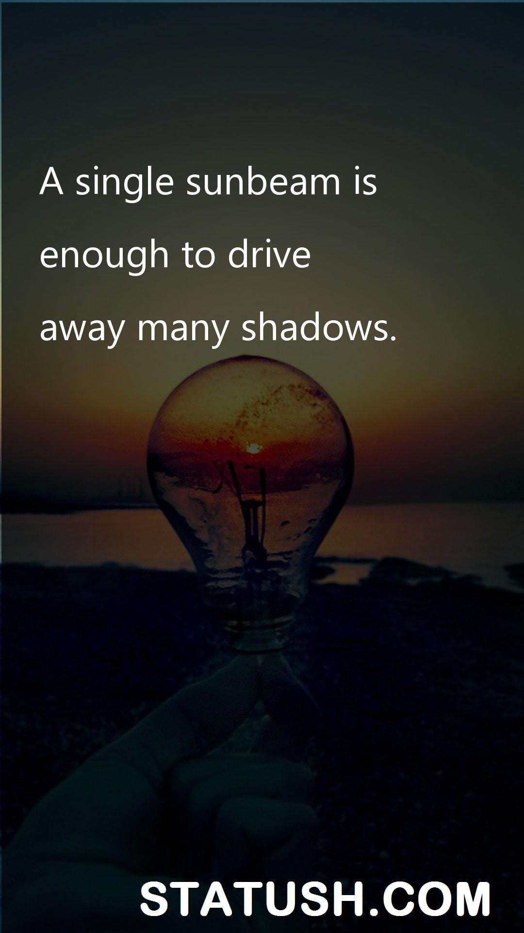 A single sunbeam is