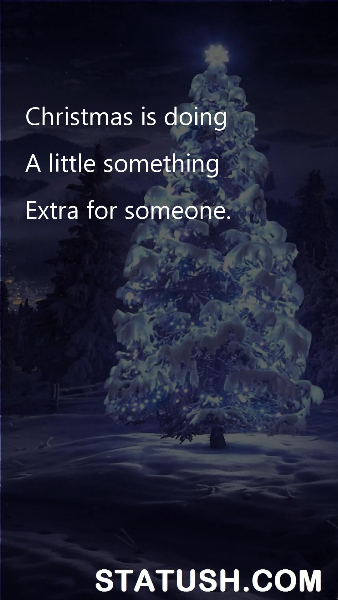 Christmas is doing Happy Christmas Day