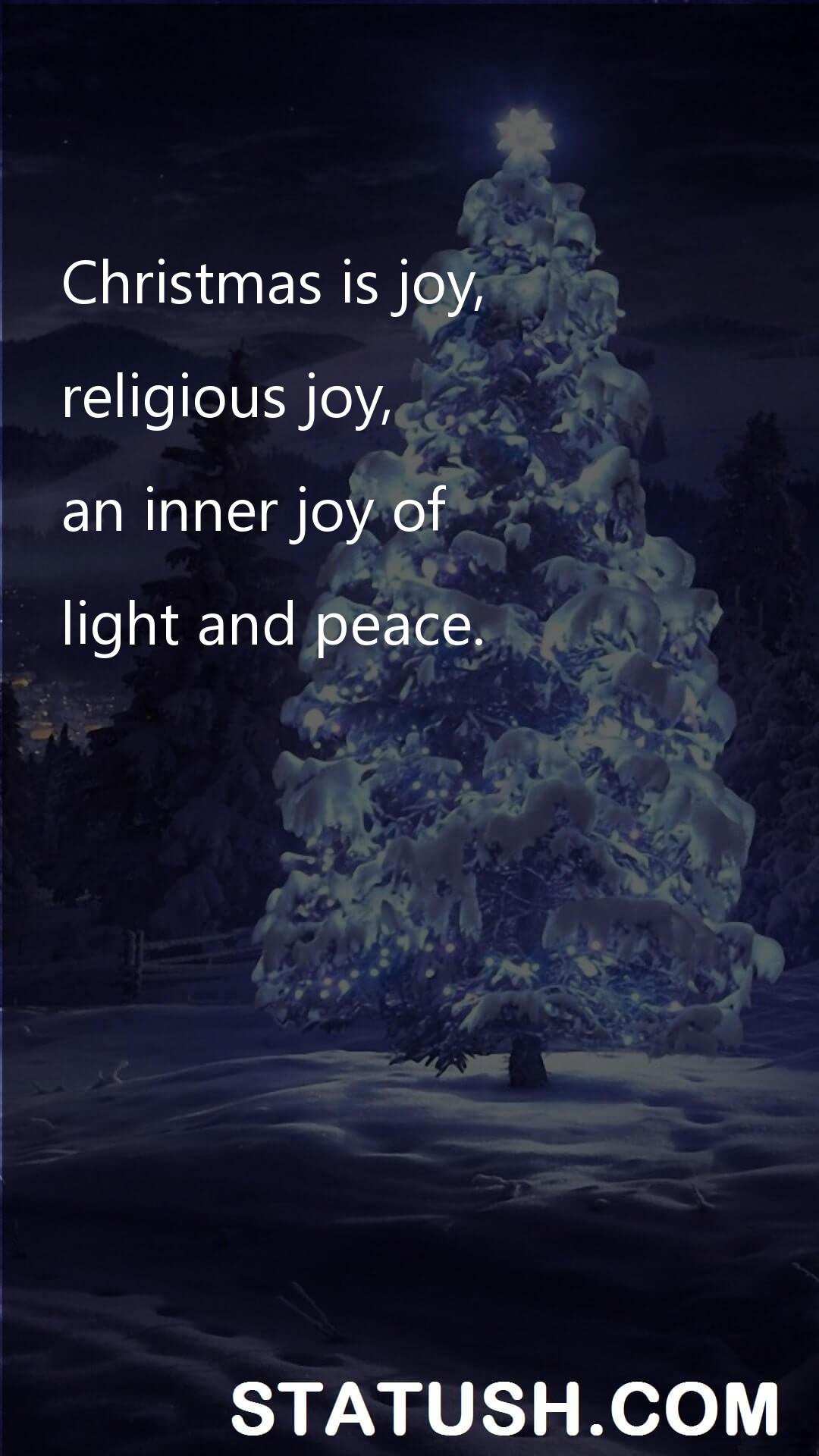Christmas is joy - Happy Christmas Day