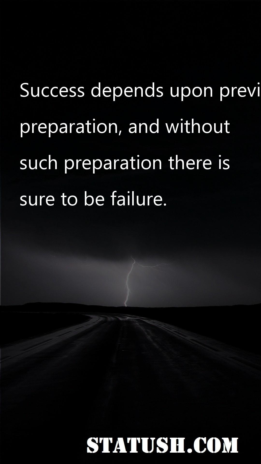 Success depends upon previous