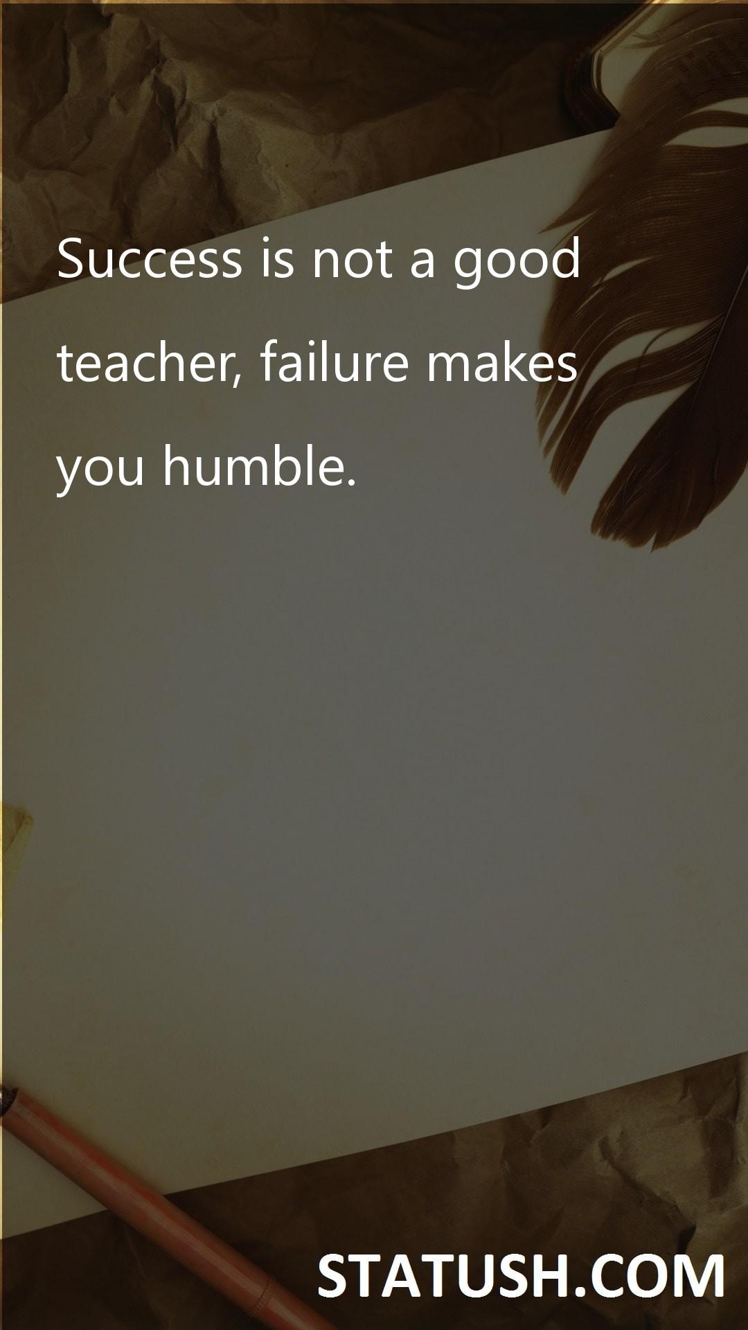 Success is not a good